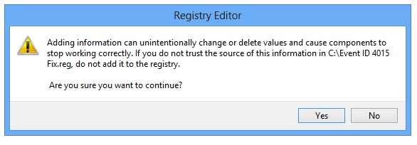 Error-Event-ID-4015-Registry Import